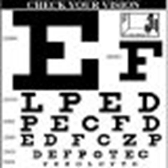 Egy ábécé, amely teszteli a látást