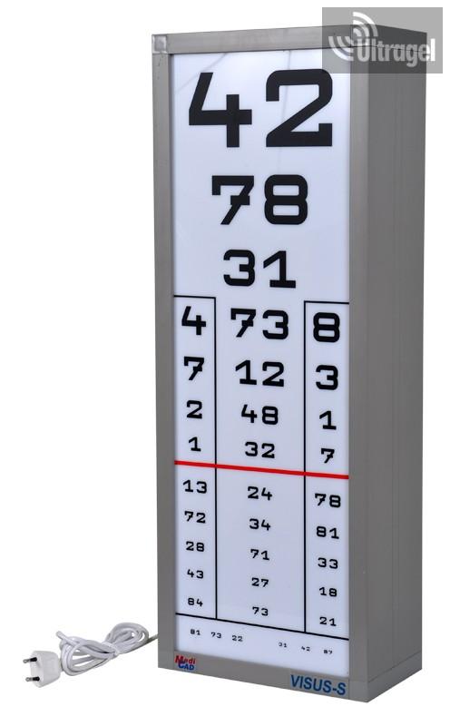 Szemész szemvizsgálati táblázat (Sivtsev asztal) - Színes vakság September