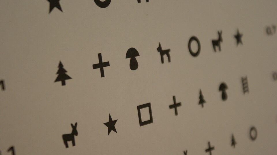 Látásellenőrző táblák (Sivtseva, Golovina) - Sérülések -