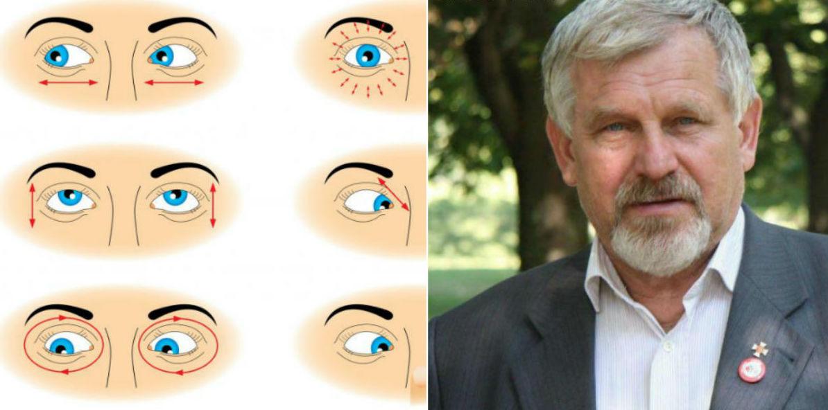 gyakorlatok a látás hiperópiájának helyreállítására