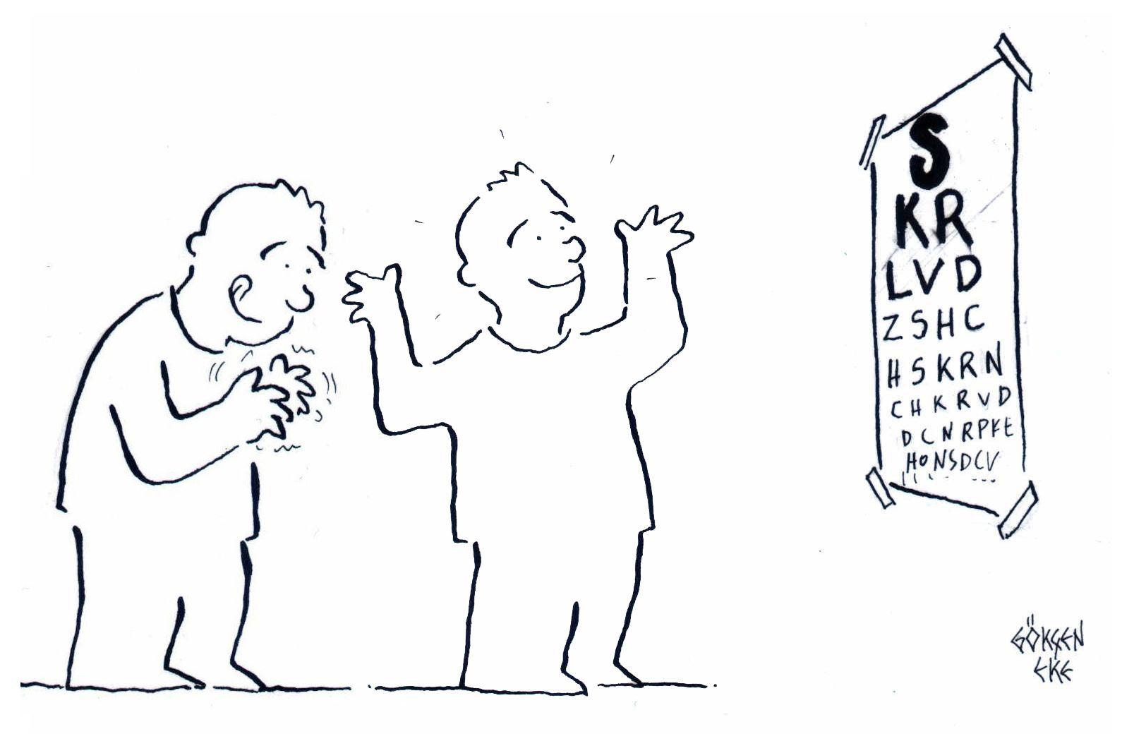 Egy szemész könyve, amely ellenőrzi a szemész látását