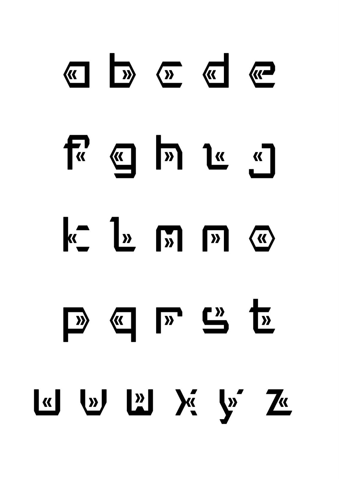 betű - sablon, rajz