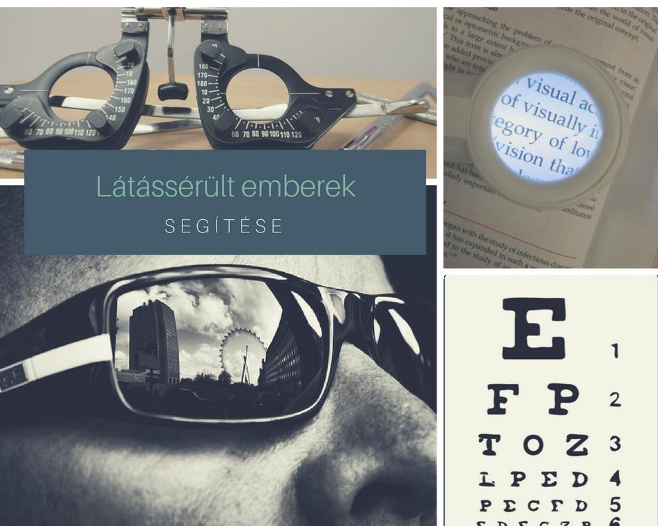 látássérült emberek segítése