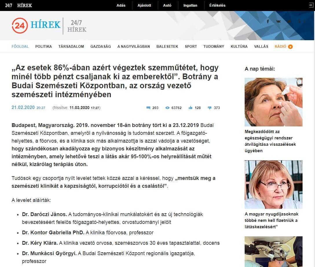 természetes gyógymódok a látás javítására)